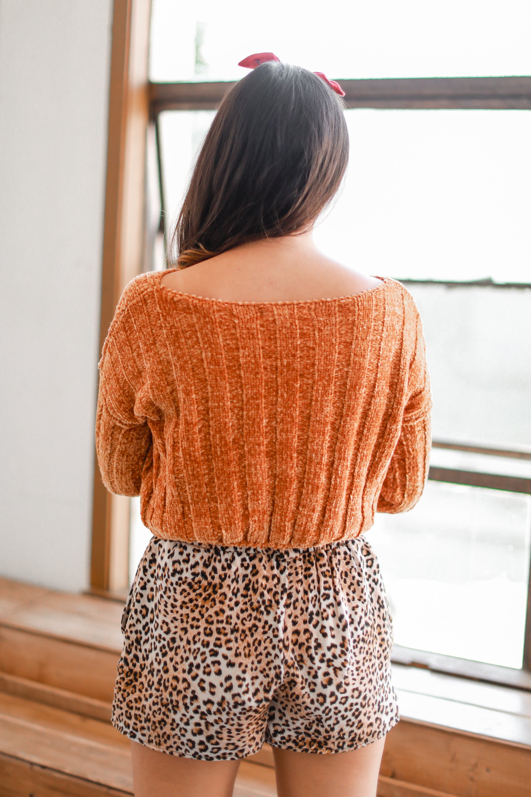 STAY CLOSE MUSTARD CROPPED SWEATER