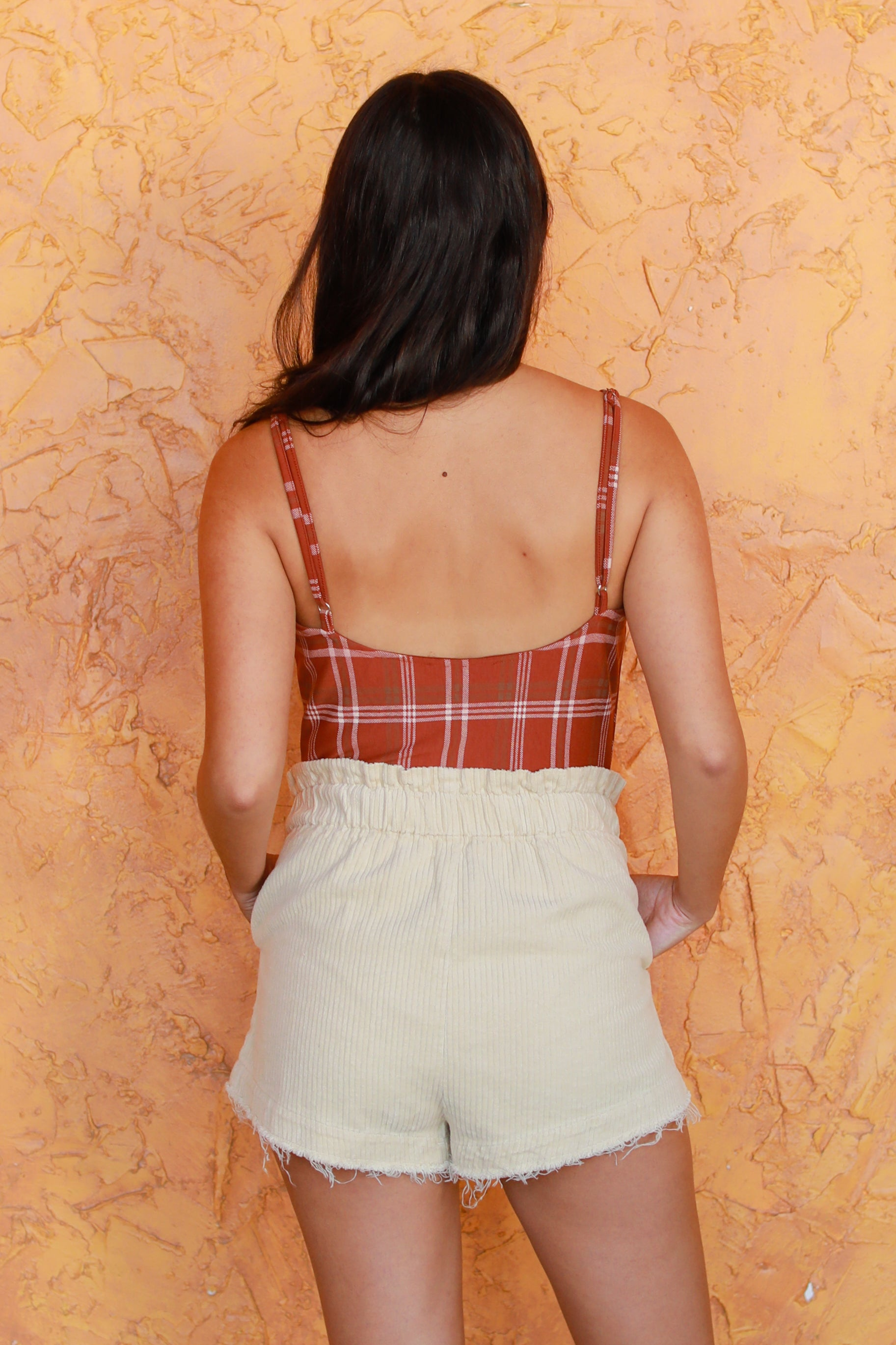 SQUARED UP RUST BODYSUIT