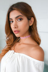 LIV AND JESS pink daisy choker. Thin cute perfect for summer.