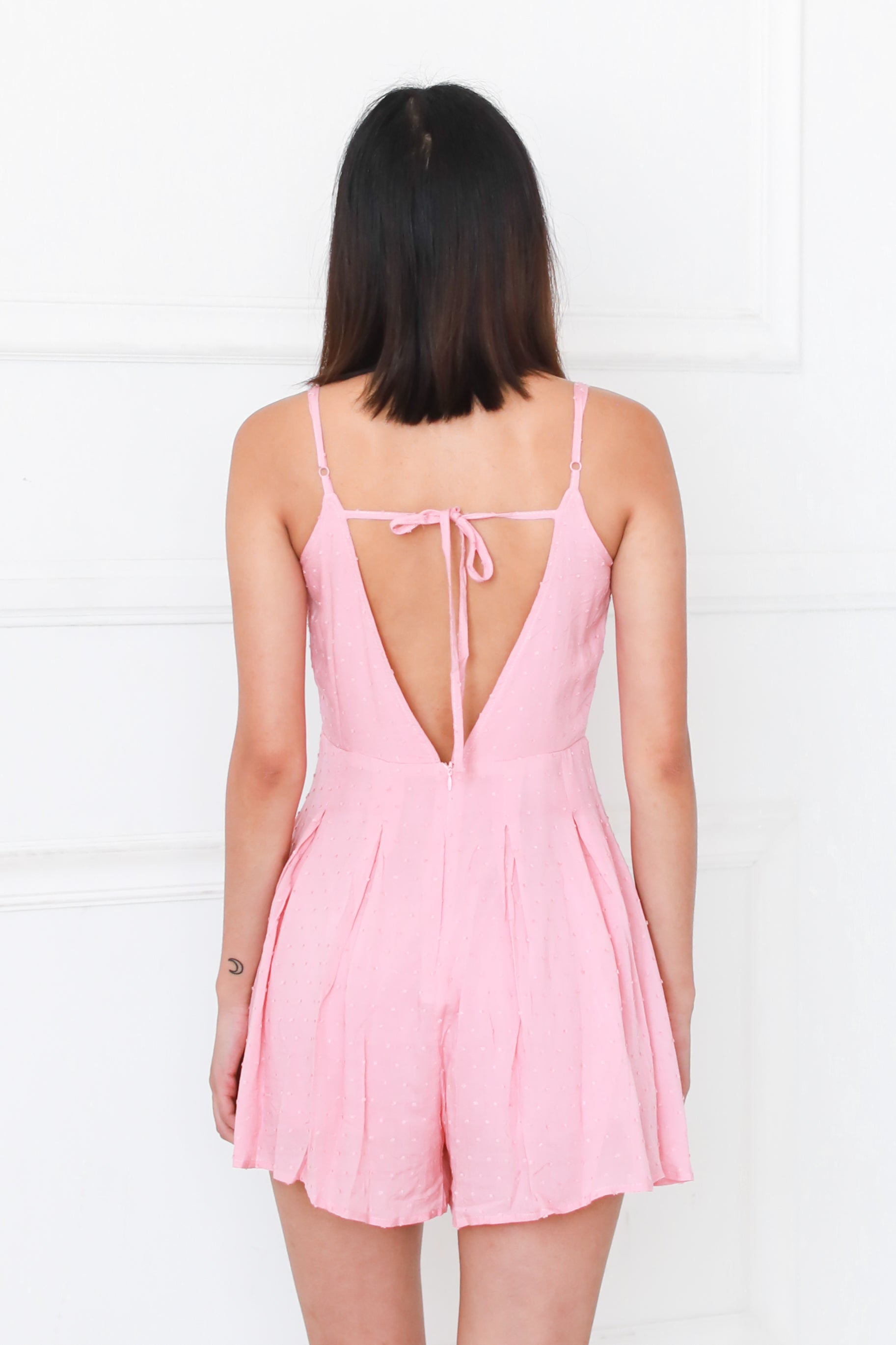 MON AMOUR PINK ROMPER