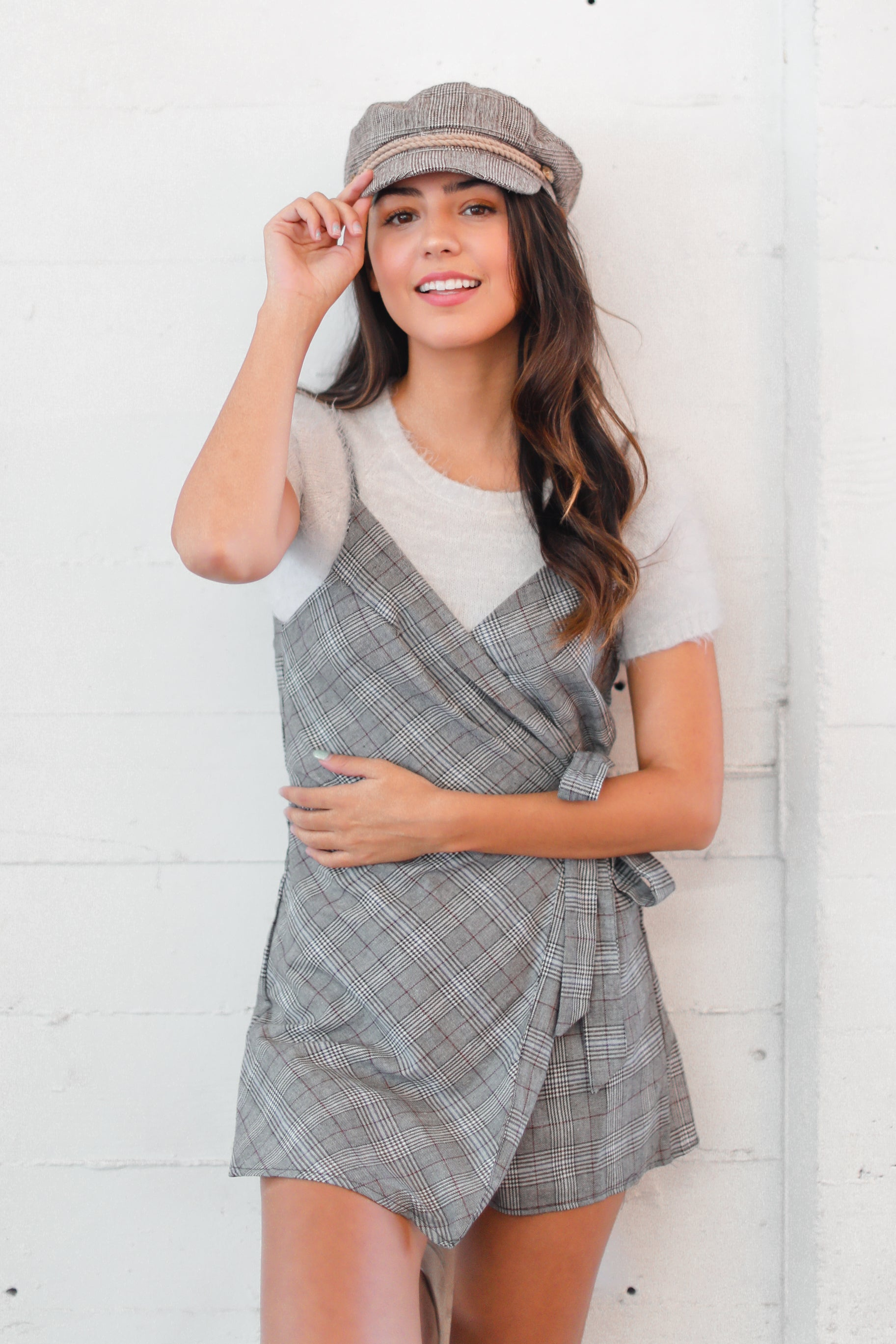 NOBODY'S BUSINESS WRAP ROMPER