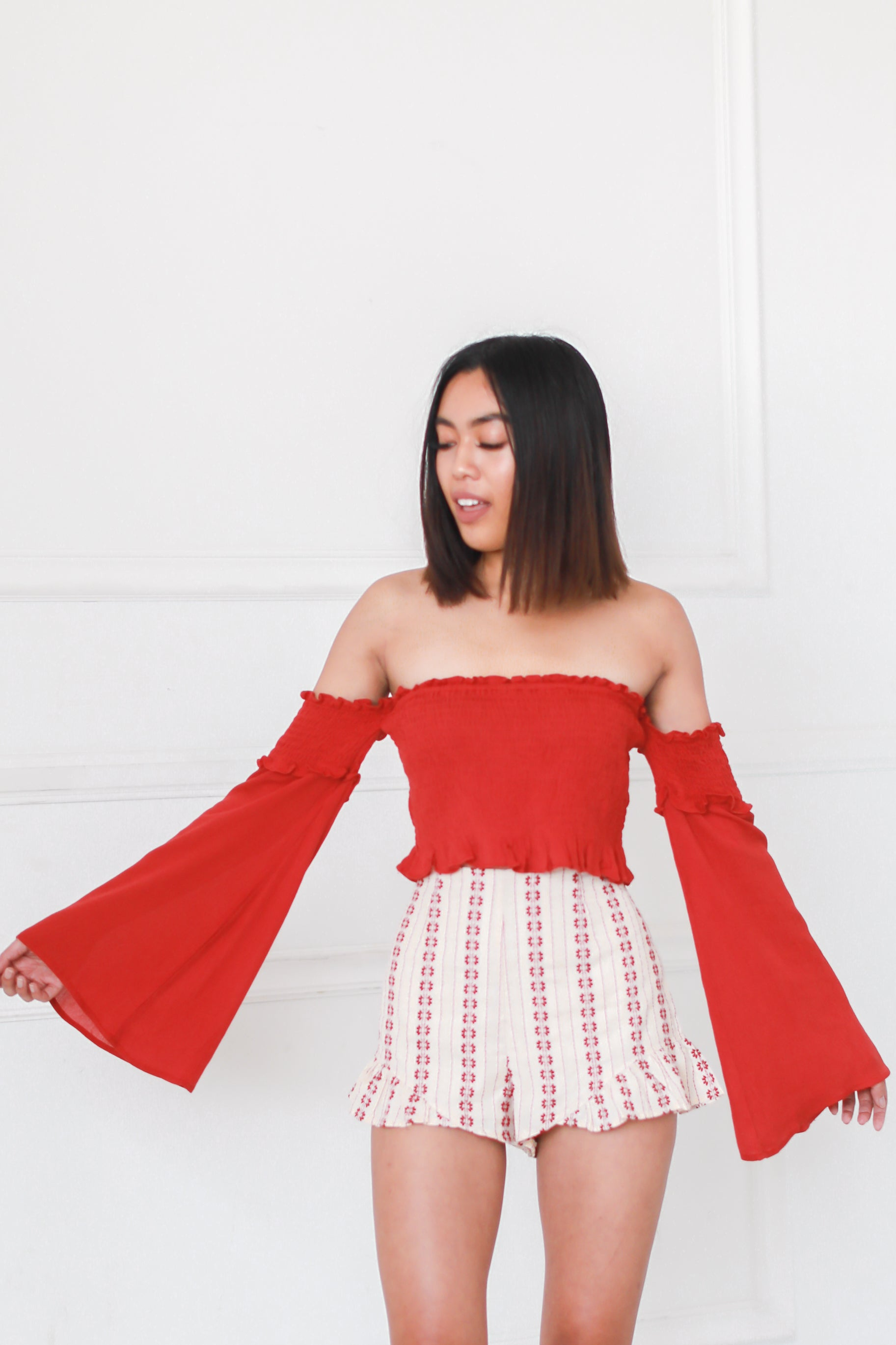 LET FREEDOM RING BELL SLEEVES TOP
