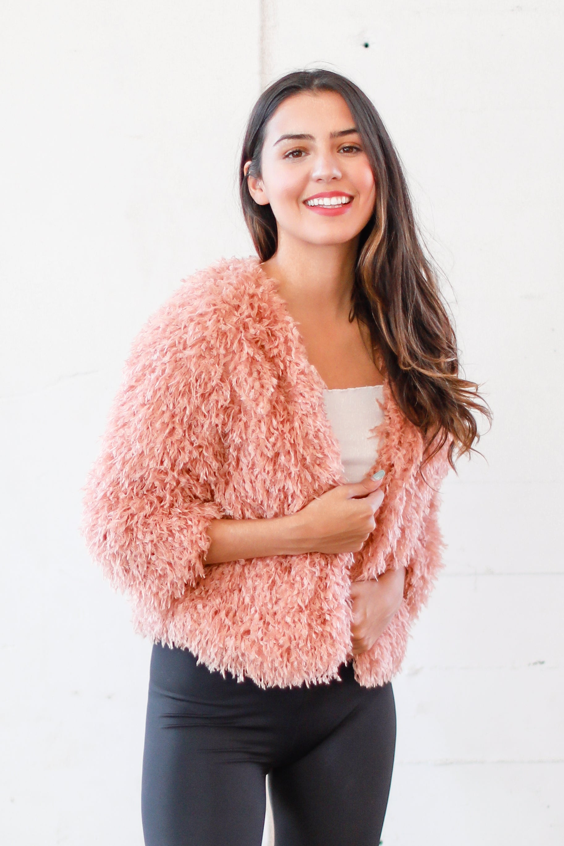 BAD ROMANCE FUZZY CARDIGAN