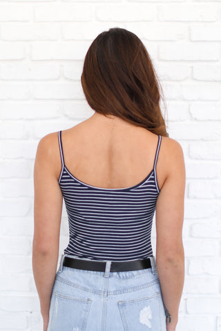 ARLO NAVY STRIPED CAMI