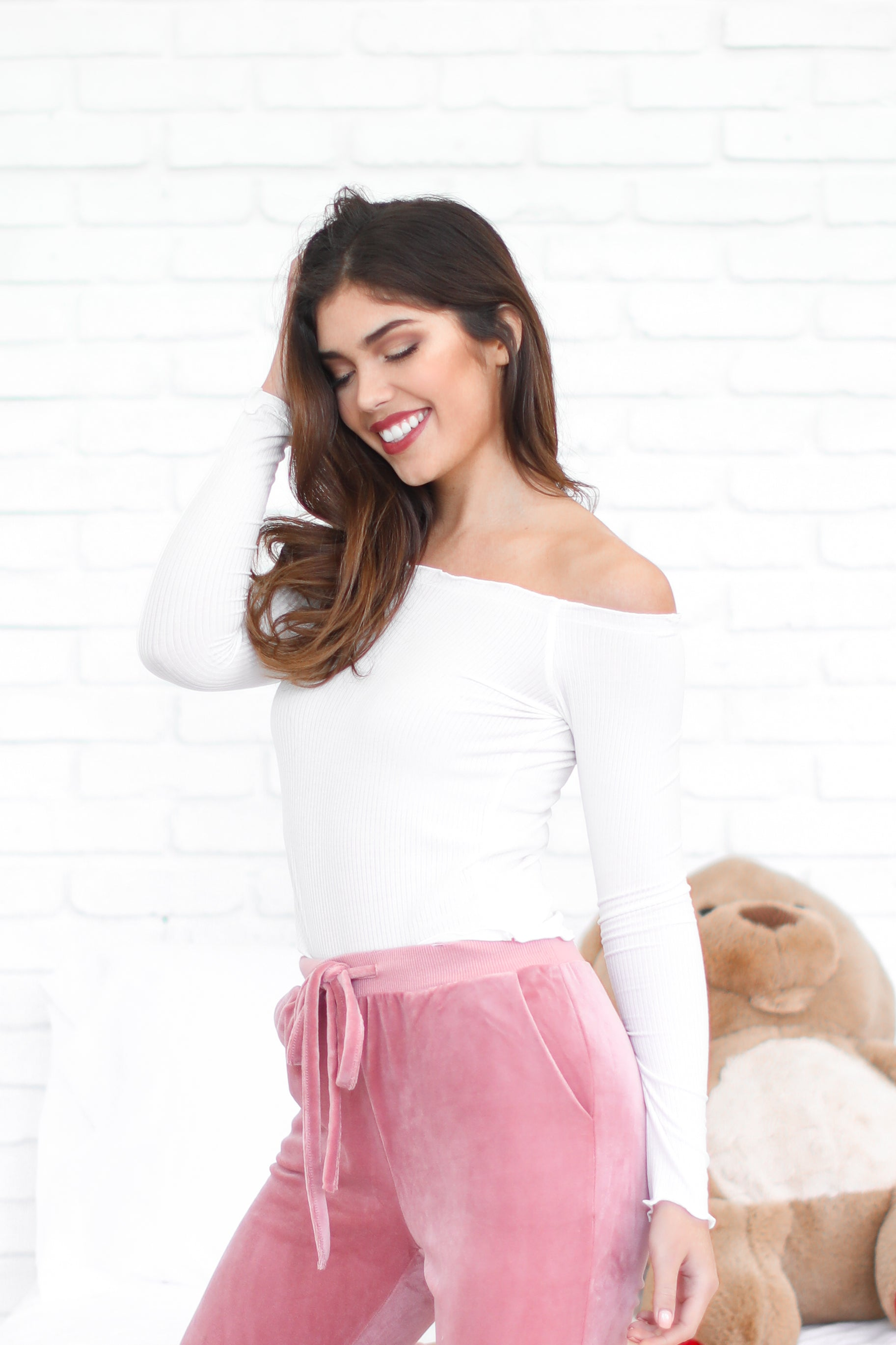 SAMMIE WHITE OFF THE SHOULDER TOP
