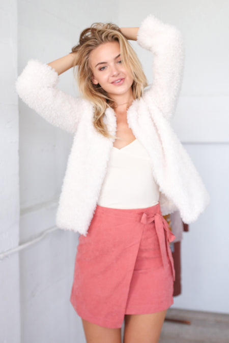 RILEY SUEDE WRAP SKIRT