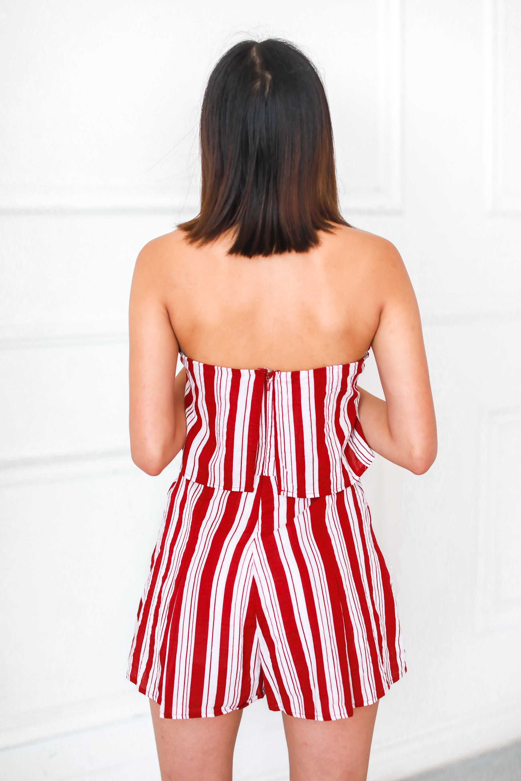 RED AND STRIPES ROMPER