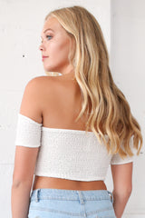 Mia Off The Shoulder Top in Ivory