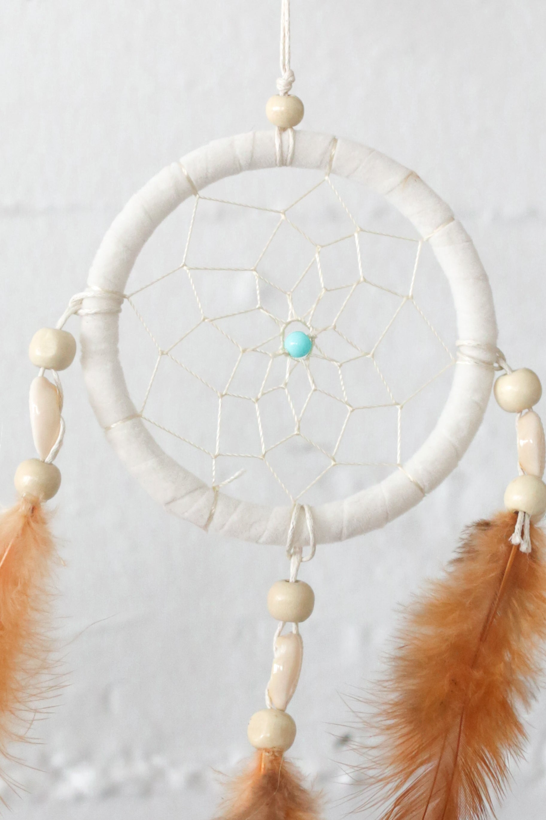 WHITE SHELL DREAM CATCHER SMALL