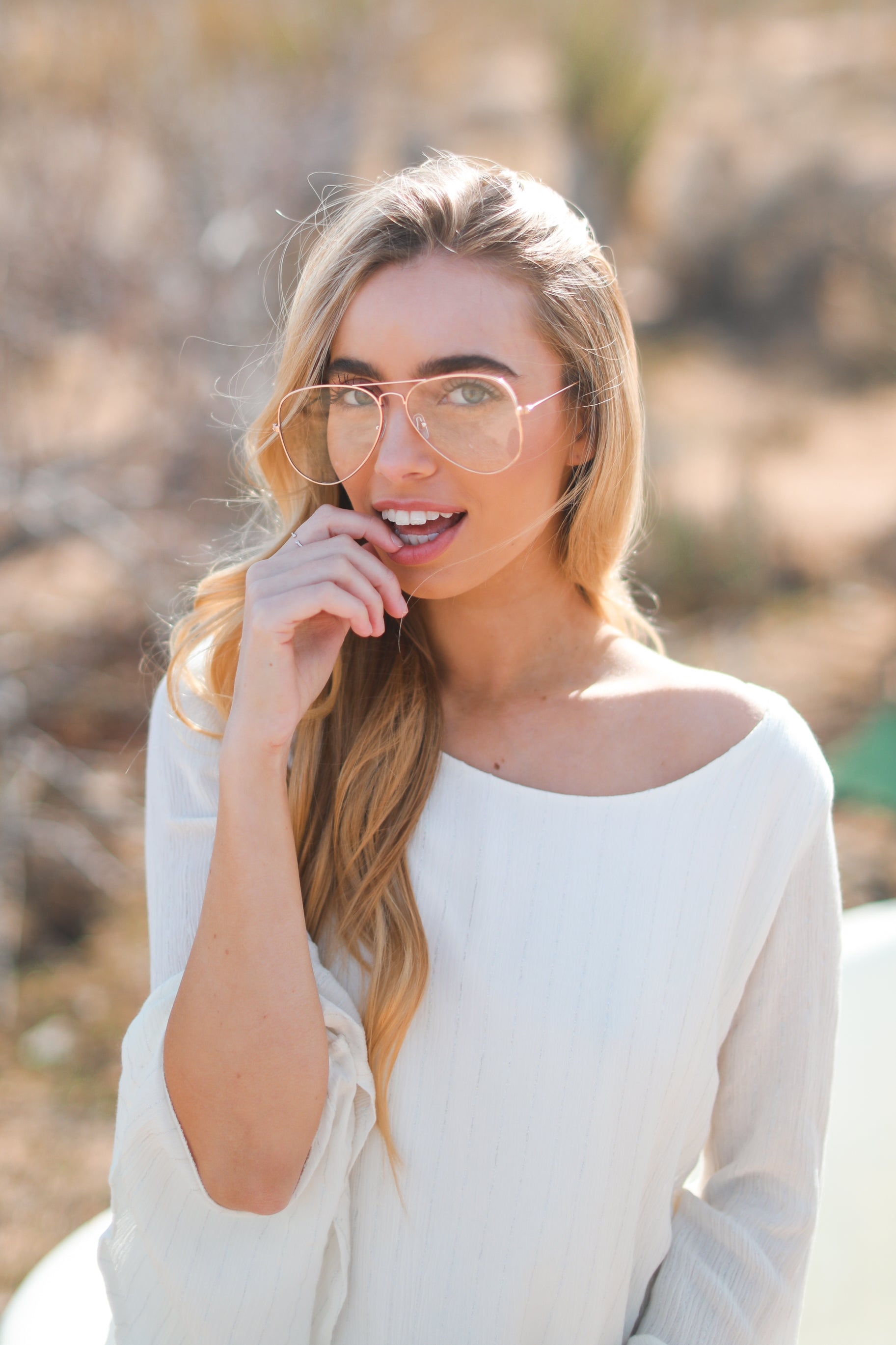 GOLD RIMMED GRANDPA GLASSES