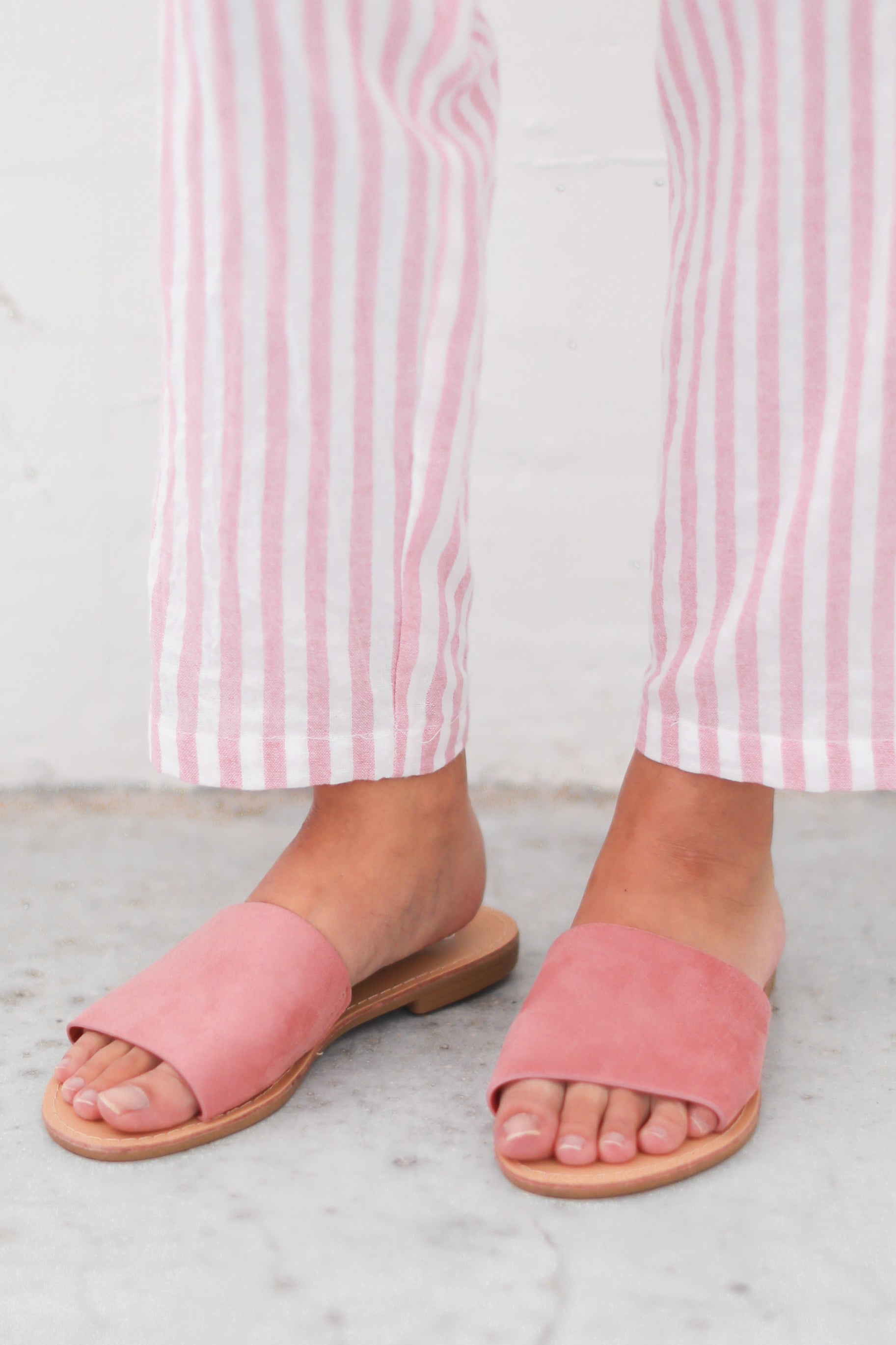 TULUM PINK SLIP ON SANDALS