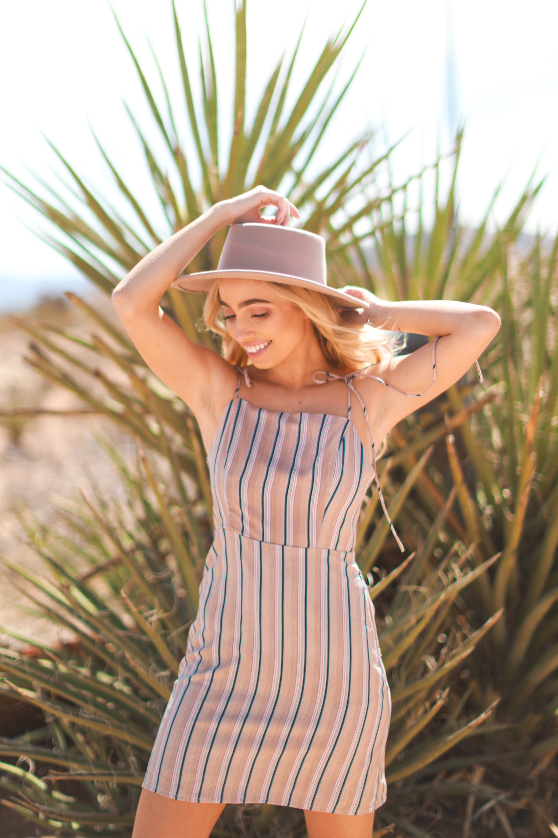 EVERLY STRIPED DRESS