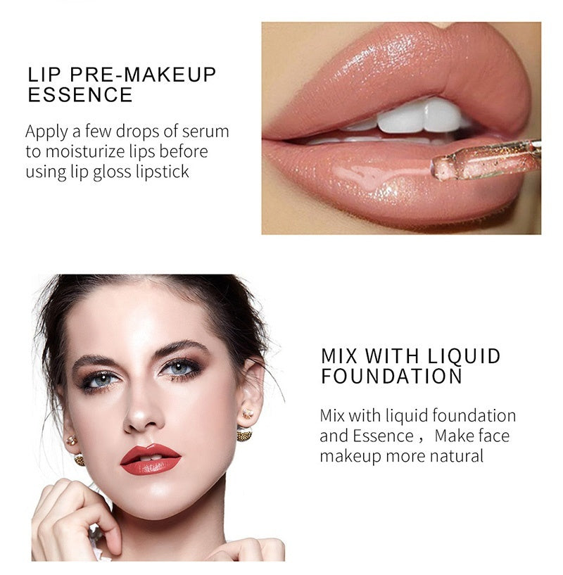 QIBEST Lip Face Gold Anti Aging 24K Moisturizing Collagen Essence Skin Care - Kastle-Junction.com