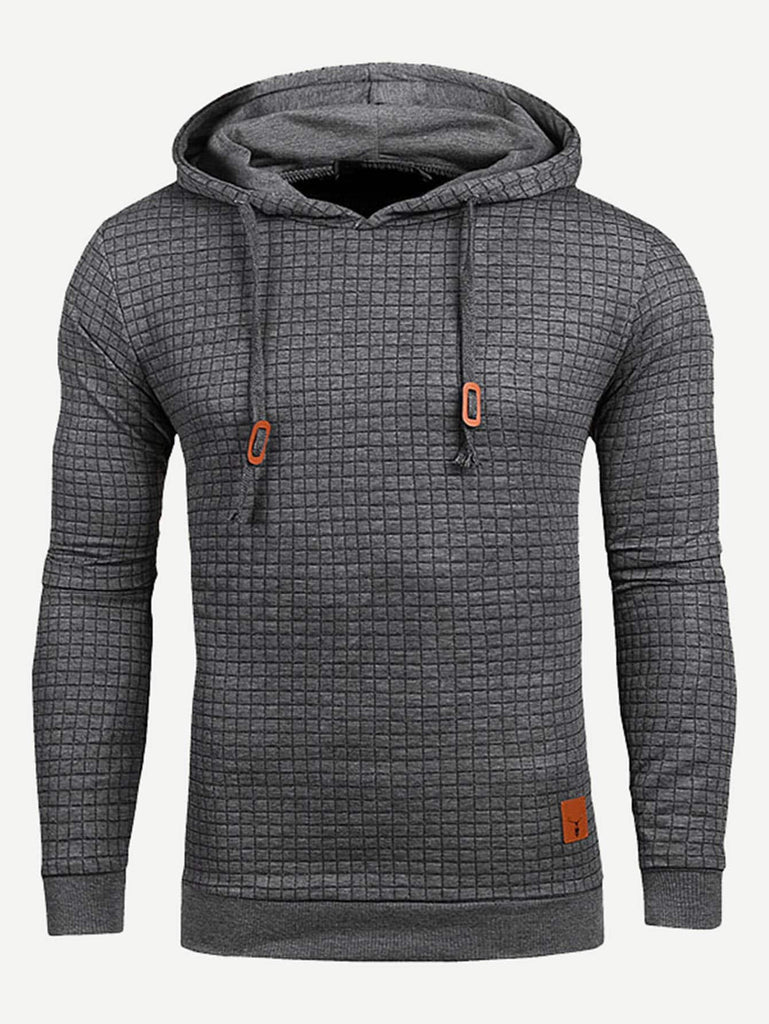 Men Solid Hooded Sweatshirt