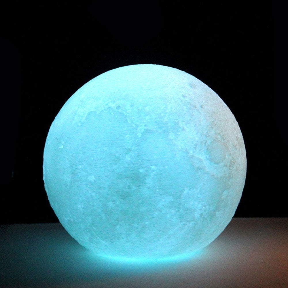 Creative Changing 3D Printing Moon Lamp - Kastle-Junction.com