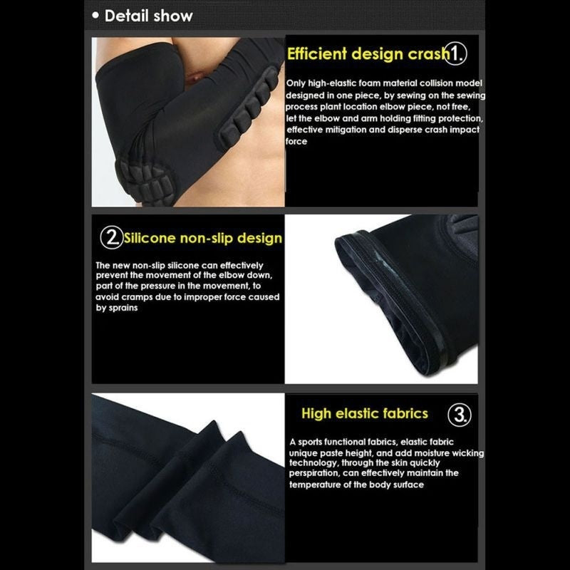 Anti-collision Non-slip Compression Elbow Pads - Kastle-Junction.com
