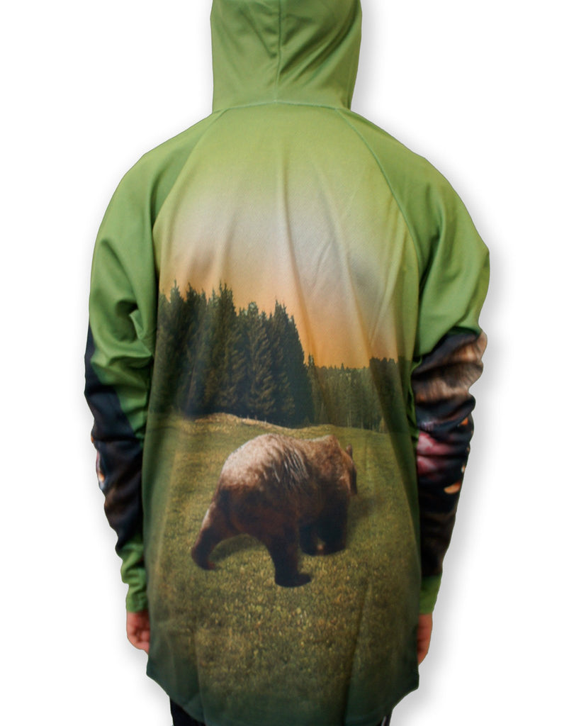 GRIZZLY BEAR Hoodie Chomp Shirt by MOUTHMAN® - Kastle-Junction.com