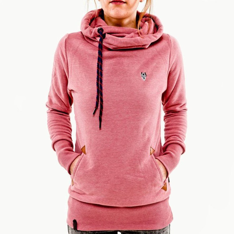 Warm Nylon Long Sleeve Plus Cashmere Hoodies Sweaters
