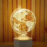 New Creative 3D USB Acrylic Night Light - Kastle-Junction.com