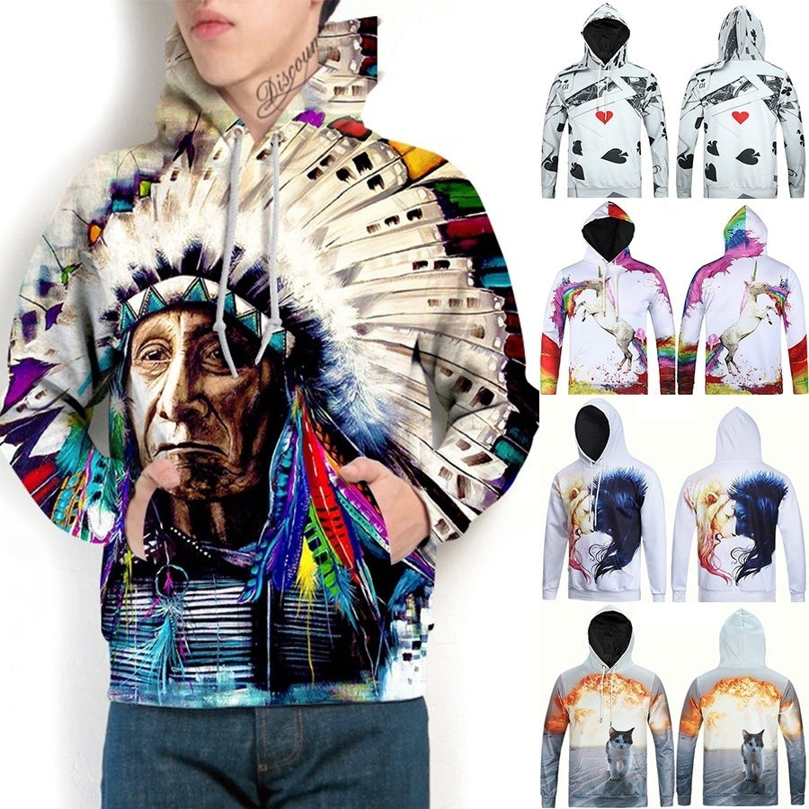 Indian Chief Print Sweatshirt - Kastle-Junction.com