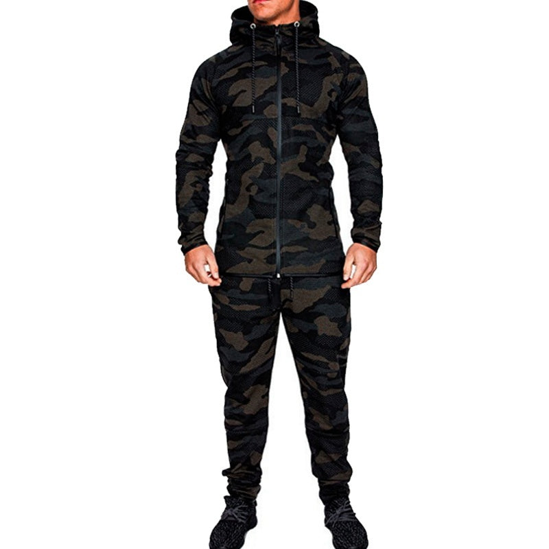 2018 New Men Fashion Sport Set Camouflage Tracksuit Mens Hoodies Sport Trouser for Mens Sweatpants Pull-over Plus Size S-5XL - Kastle-Junction.com