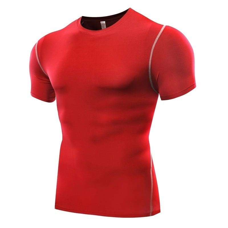 Gym Tights Elastic Quick-drying Compressed T-shirts - Kastle-Junction.com