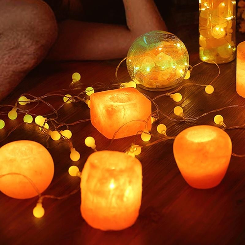 Himalayan Salt Candle Holder - Kastle-Junction.com