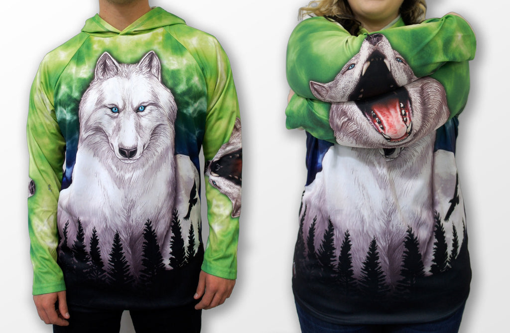 HOWLING WOLF Hoodie Chomp Shirt by MOUTHMAN® - Kastle-Junction.com