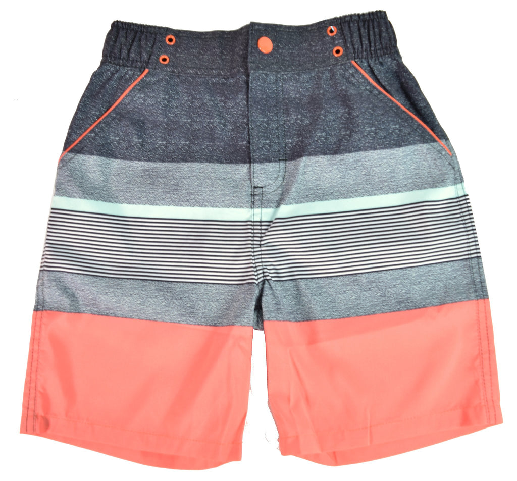 UPF 50 Coral Stripe Swimsuit (Recommended by the Skin Cancer Foundation)
