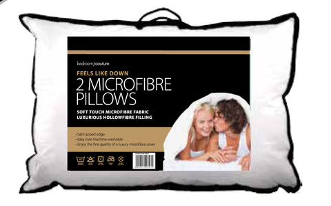 Microfibre Twin Pack Soft touch just like down. Luxury pillows
