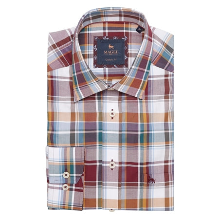 Magee Multi-coloured Tullagh button down classic fit shirt