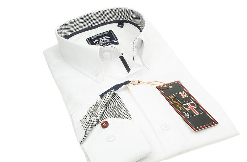 Yachting 1923 White Easy Line Mens shirt