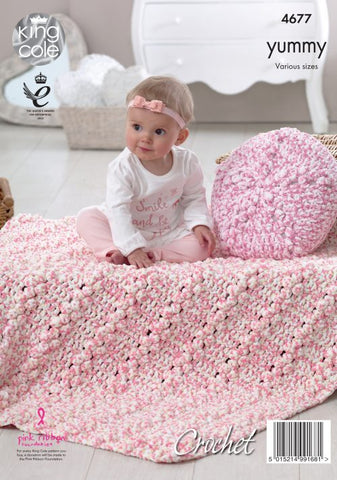 Yummy Crochet Pattern Various Sizes King cole 4677