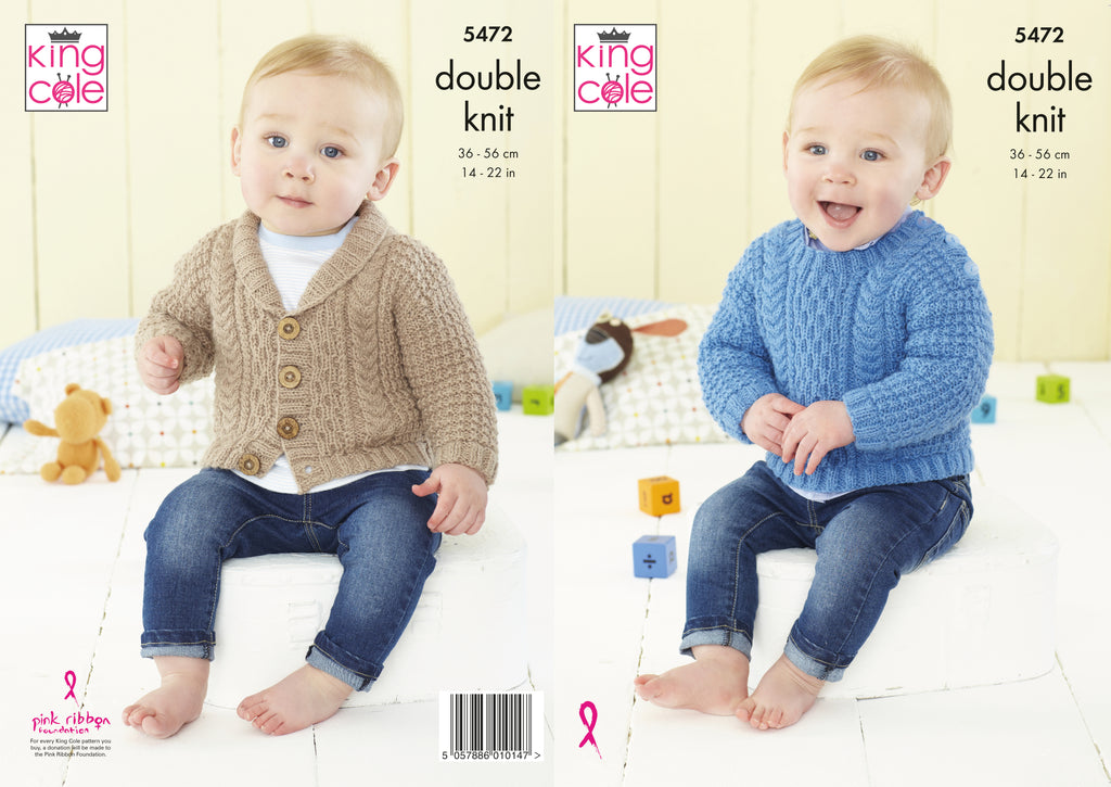 DK Knitting Patterns size 36-56cm 14-22 inchs - King Cole 5472