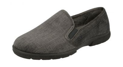 Mens House Velour Shoes Kendal Grey