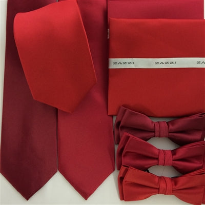 Solid Colour Wedding Ties and Bows | Reds | by Zazzi