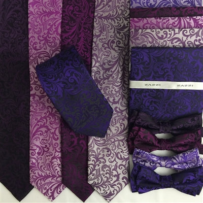 Floral Wedding Ties and Bows | Purples | by Zazzi