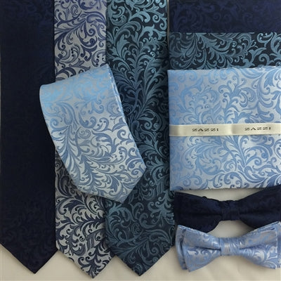 Floral Wedding Ties and Bows | Blues | by Zazzi