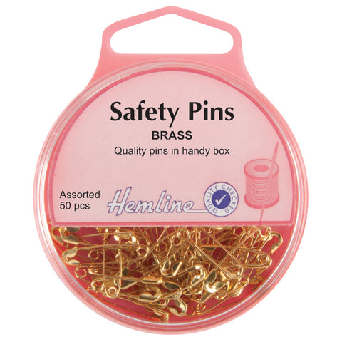 Safety Pins Brass Assorted sizes
