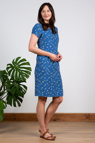 St Ives Forget me Not Dress- Cornish Blue