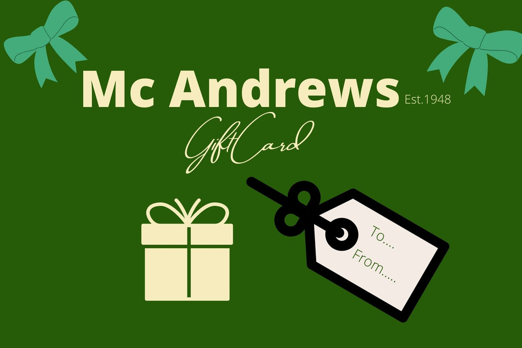 Mc Andrews Gift Card