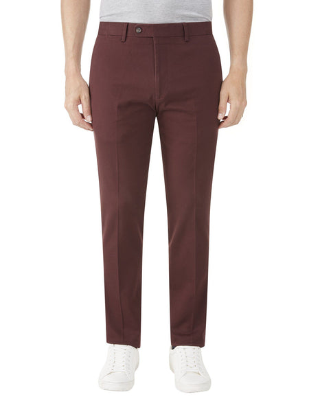 Tailored Chino Trouser  Wine