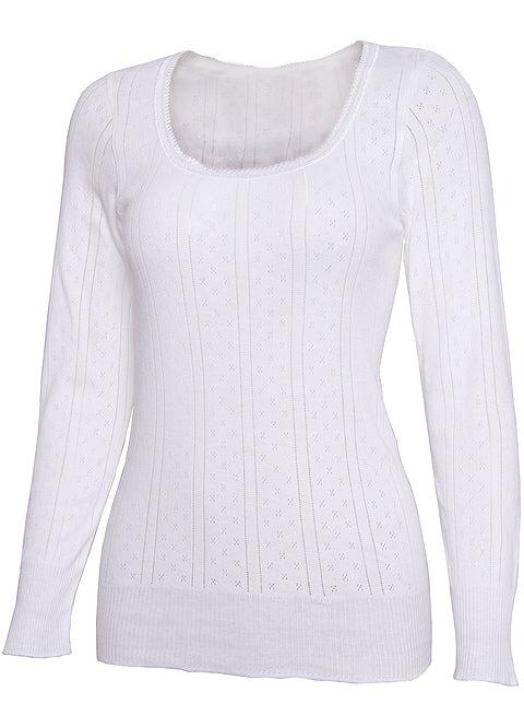 White Swan Long Sleeve Vest