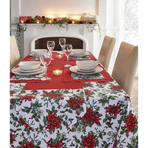 Christmas Place Mat Poinsettia