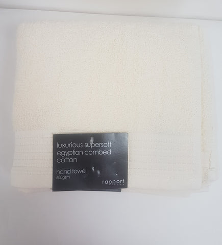 Cream Hand Towel- Egyptian Combed Cotton