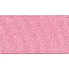 Satin Ribbon Col: 60 Dusky Pink Double Faced Polyester (Sold Per Yard)
