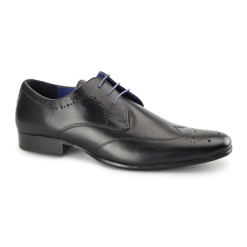 Black Lace Up Brogue Shoes - Gala