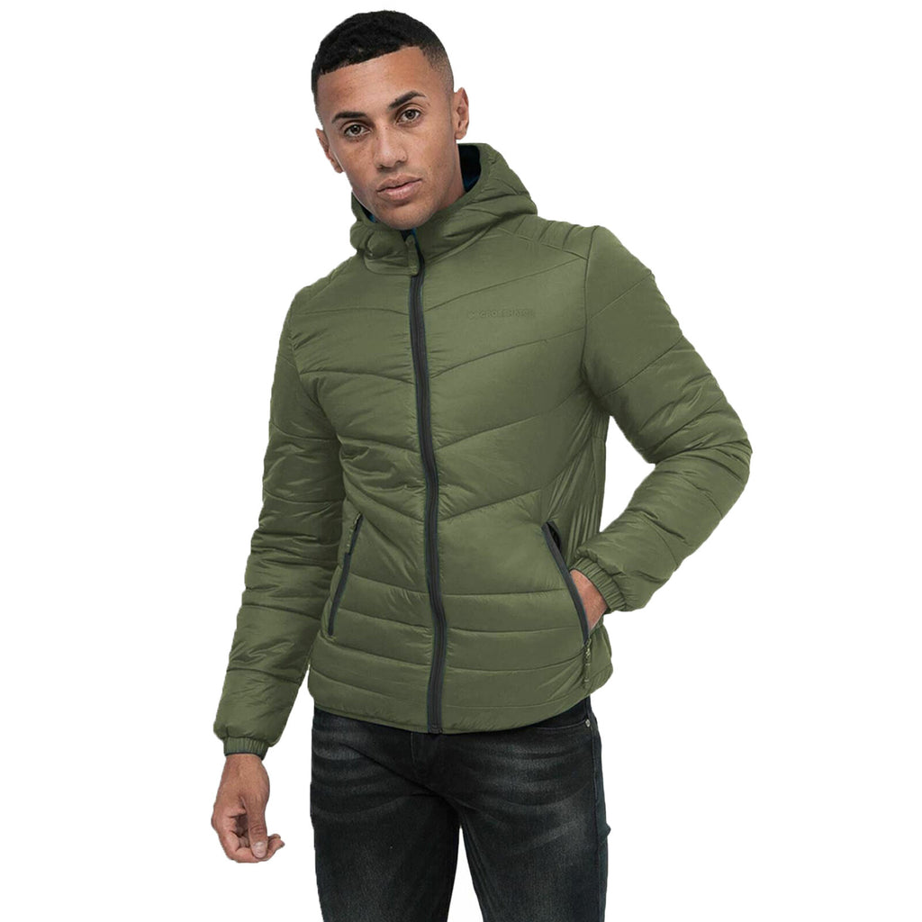 Cross Hatch Mens Jacket Olive