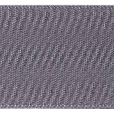Satin Ribbon Col:669 Grey Double Faced Polyester (Sold Per Yard)