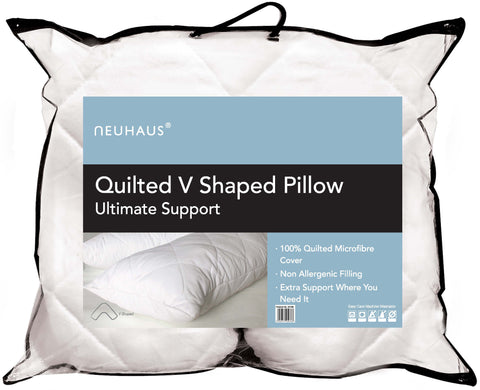 Quilted V Shaped Microfibre support pillow